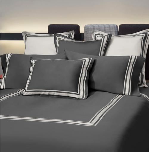 Tivoli Bed Linens   Lead Grey