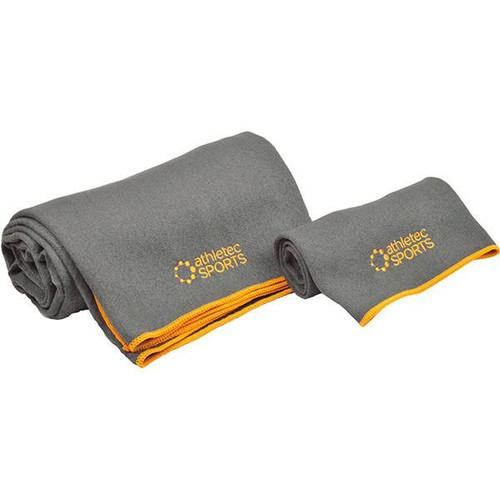 Yoga Towel Set - Gray & Orange