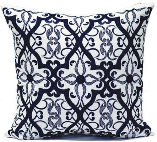 Blue Cream Linen/Navy