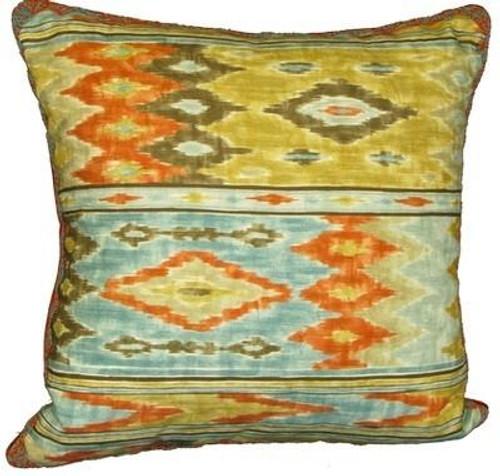 Orange - Ikat Print Pillow