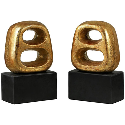 Delphi Bookends   Gold   Set of 2