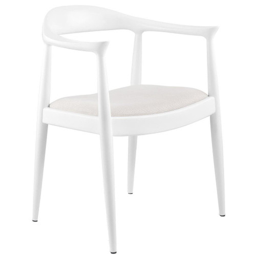 Bungalow 5 Danish Armchair   White