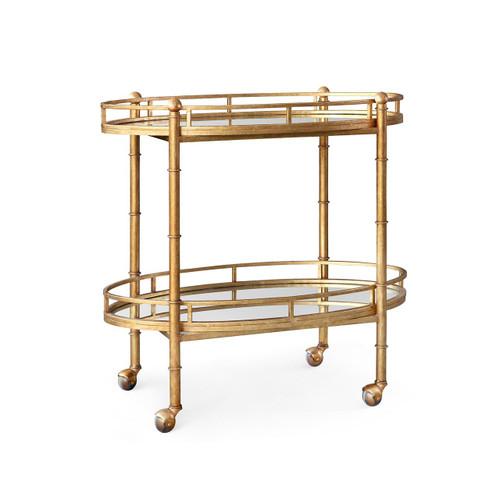 Normandy Bar Cart in Gold