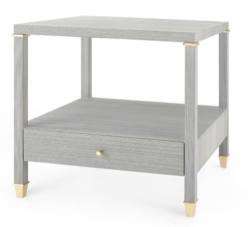 Pascal 1-Drawer Side Table, Slate Blue