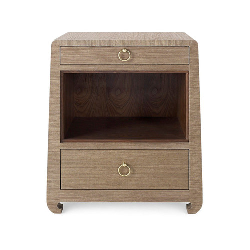 Ming 2 Drawer Side Table | Brown