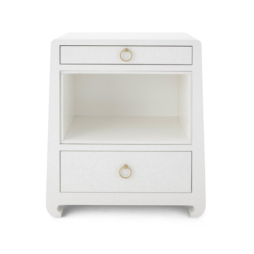 Ming 2 Drawer Side Table | White