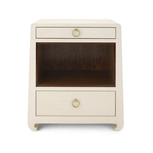 Ming 2 Drawer Side Table | Natural