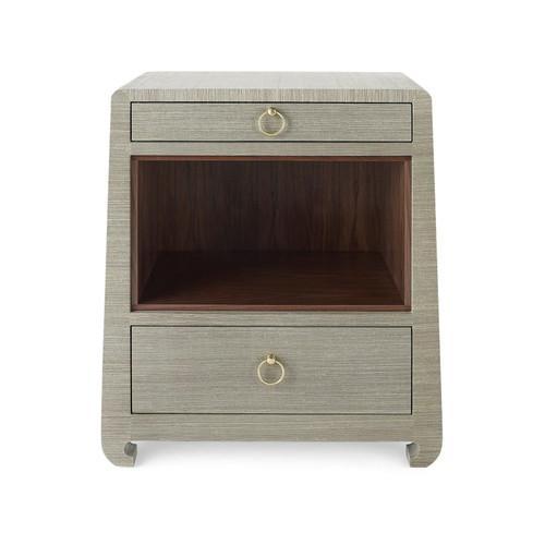 Ming 2 Drawer Side Table | Sage Green