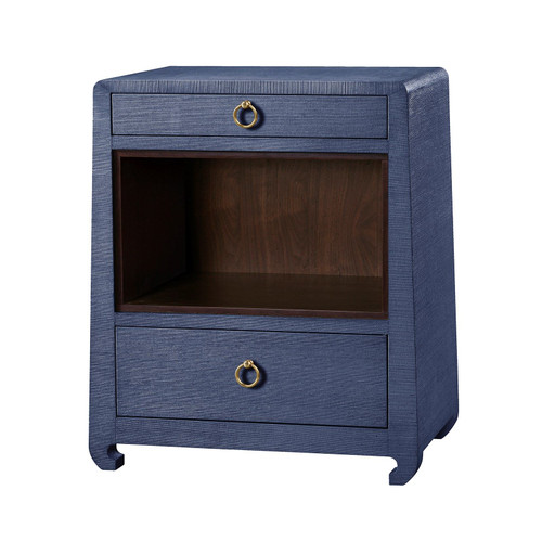 Ming 2 Drawer Side Table | Navy Blue