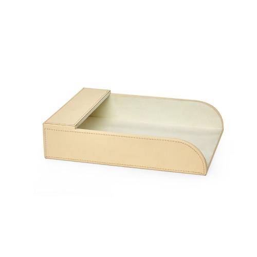 Hunter Leather Paper Holder   Ivory