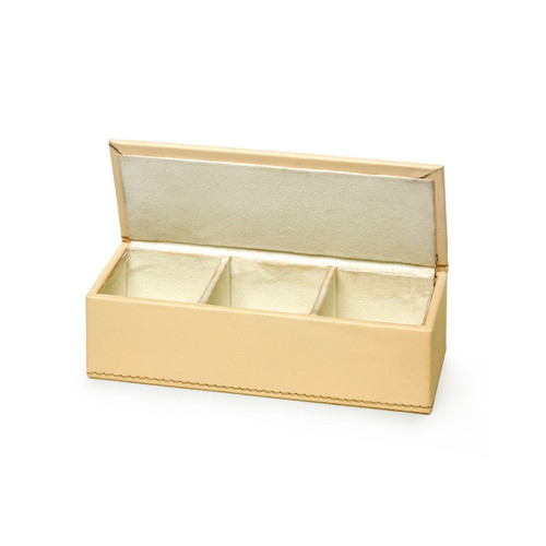 Hunter Leather Pin/ Clip Box   Ivory