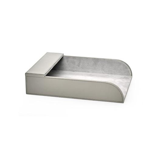 Hunter Leather Paper Holder   Grey