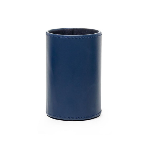 Hunter Leather Pen/ Pencil Cup   Navy