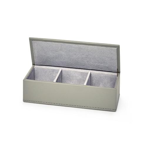 Hunter Leather Pin/ Clip Box   Gray