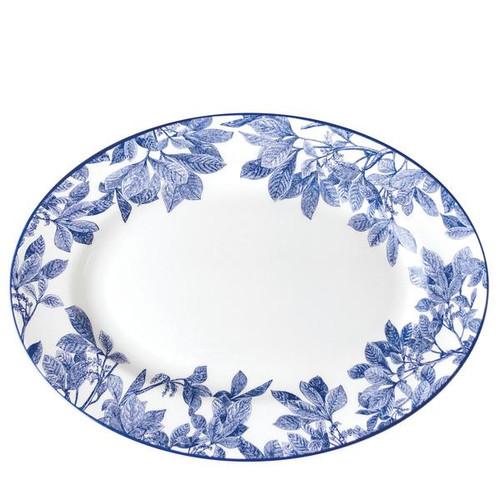 """Arbor Blue Medium Oval Platter 14"""""""