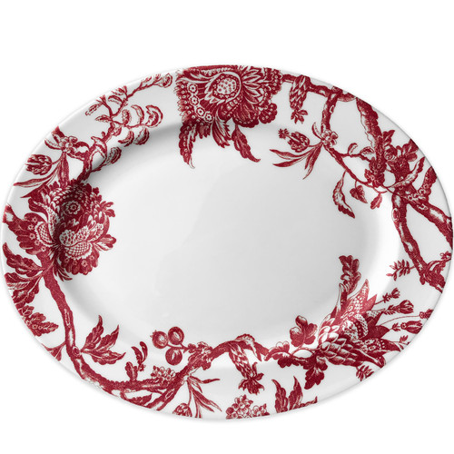 "Arcadia Crimson Large Oval Platter 16""L"