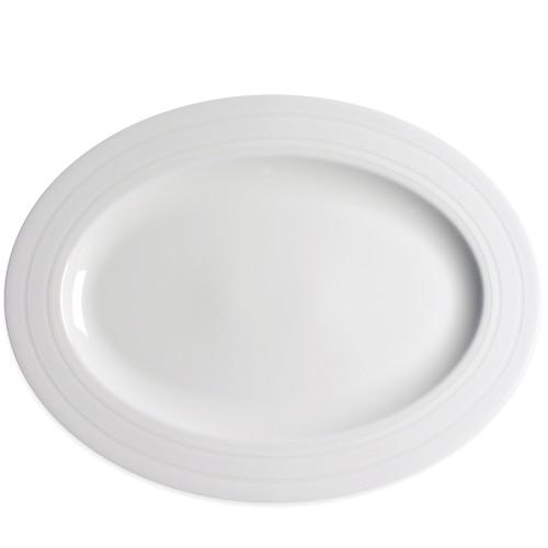 "Cambridge Stripe White Large Oval Platter 16""L"