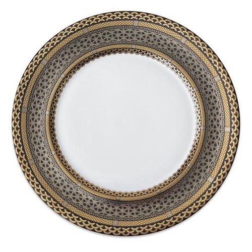 Hawthorne Onyx- Gold, Platinum & Black Charger Plate