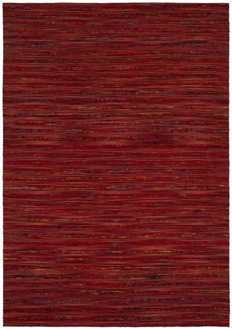 Aletta Textured Rug   Red