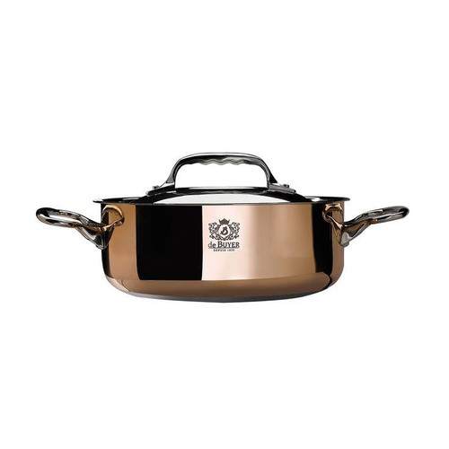 de Buyer  Prima Matera Saute-pan with Stainless Steel Lid 1.9 qt