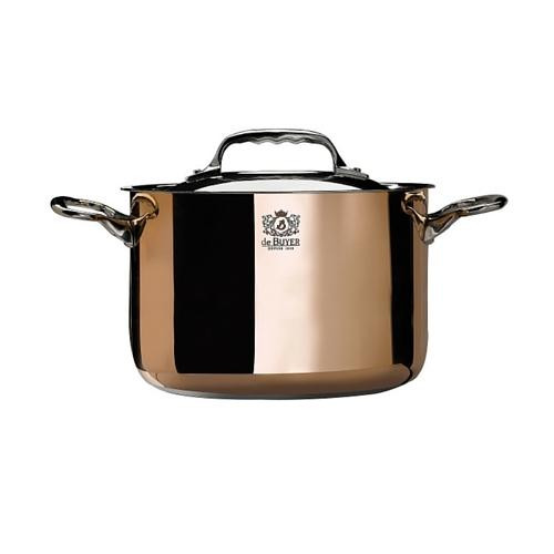 de Buyer Prima Matera Induction Stew Pan with Lid 3.4 qt
