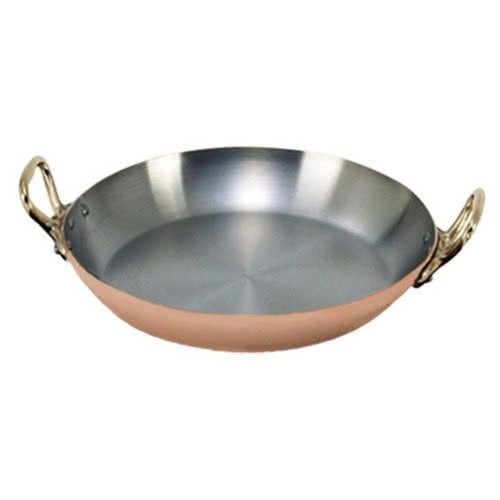 de Buyer Copper Mini Round Dish w/Brass Handles, 8-in