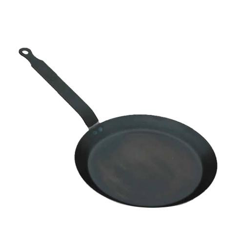 De Buyer Force Blue Iron Blued Crepe/tortilla Pan, 8-in