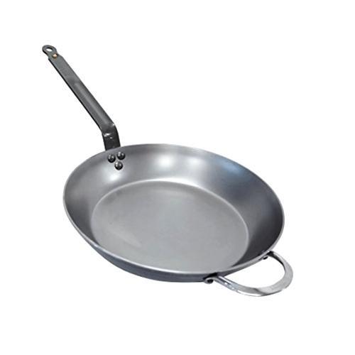 de Buyer Mineral B Element Carbon Steel Round Frypan, 12.5-in