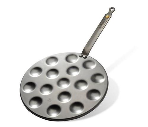 de Buyer Mineral B Element Carbon Steel Round Pan for Poffertjes