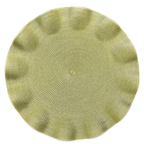 """15"""" Ruffle Linen Braid Placemat"""