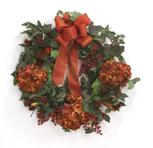 """26"""" Ivy Wreath with Rust Accents"""