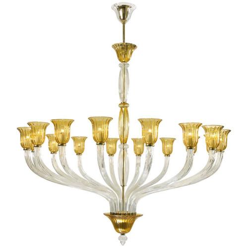 Cyan Design Vetrai Murano Style Glass 16-Light  Chandelier