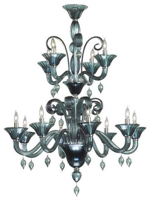 Cyan Design Treviso 12-Light Chandelier   Indigo Smoke