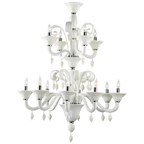 Cyan Design Treviso 12-Light Chandelier   White