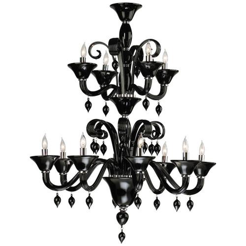 Cyan Design Treviso 12-Light Chandelier   Black