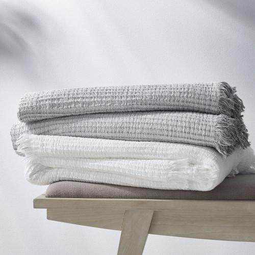 Madrid Blanket + Shams   White