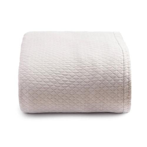 Diamante Coverlet   Light Grey