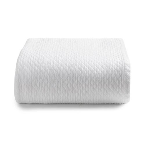 Diamante Coverlet   White