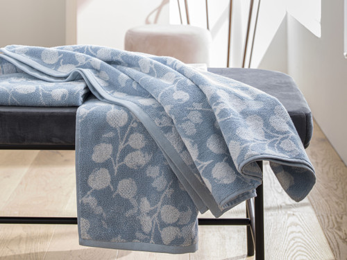 Rosee Bleu Bath Towels by Anne de Solene