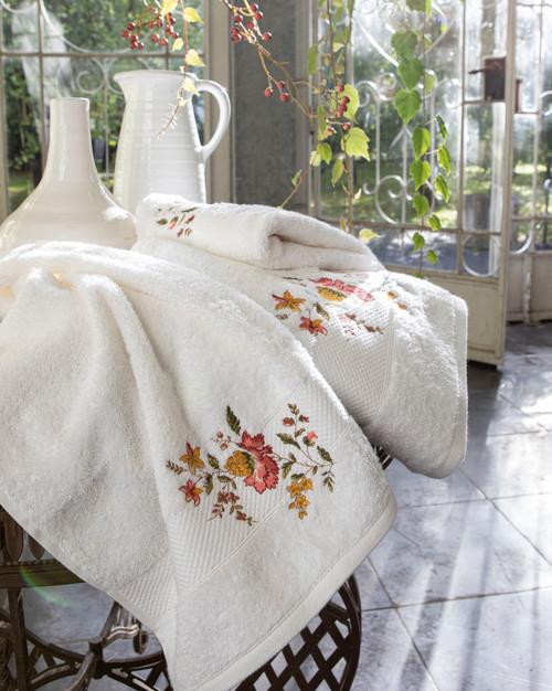Anna Bath Towels by Anne de Solene