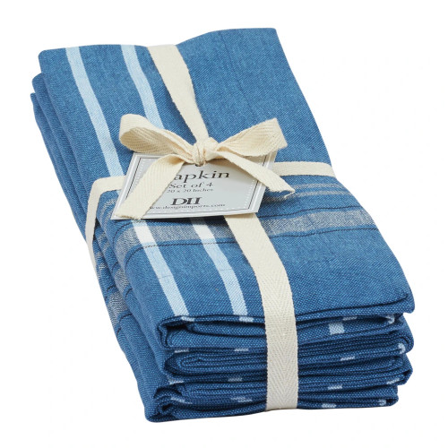 French Blue Chambray Napkin Set of 4 by Design Imports