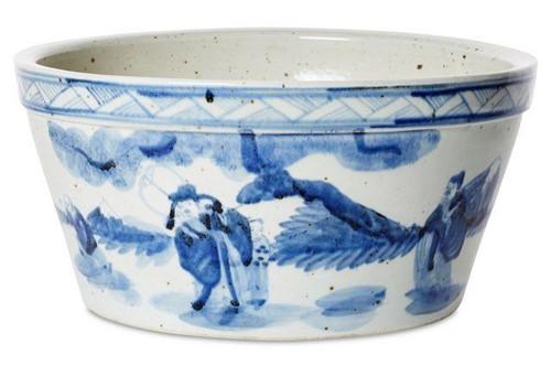 Blue and White Cache Pot