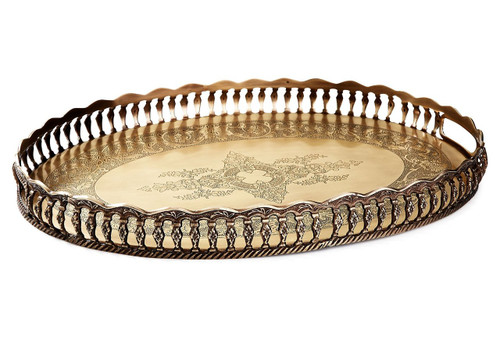 Antique Gold Gallery Tray