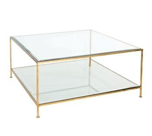 Quadro Square Gold Leaf Coffee Table