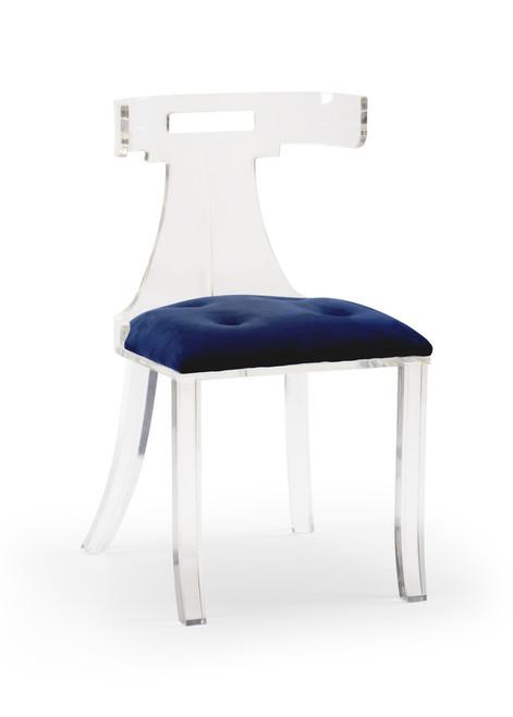 Elsa Acrylic Chair - Velvet