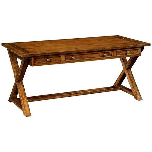 Country Farmhouse Walnut Writing Table