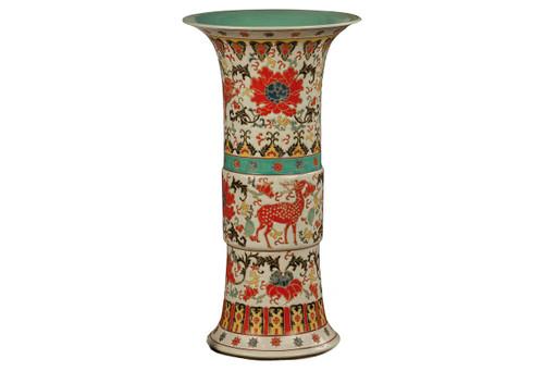 Multi Color Trumpet Vase