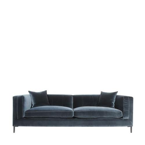 Nick Alain Velvet Sofa
