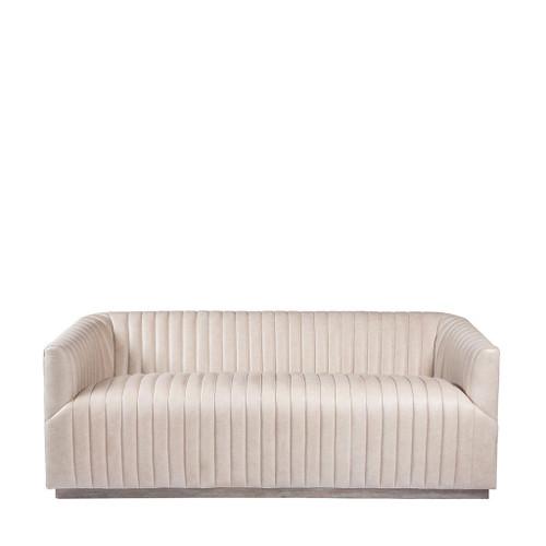 Sete Strip Granite Leather Sofa