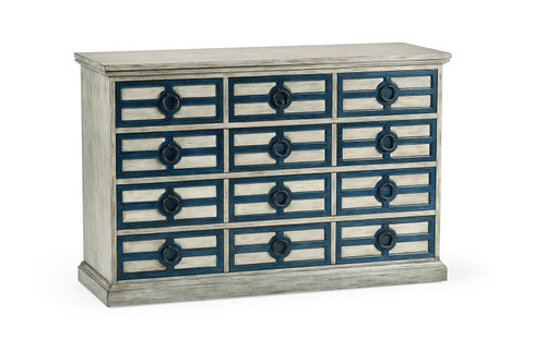 Midmoor White Grey Chest of Drawers